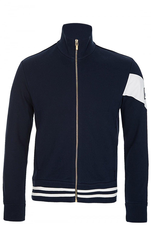 MONCLER Moncler Gamme Bleu White Stripe Tracksuit Jacket Navy ... f9a03ecc35bb