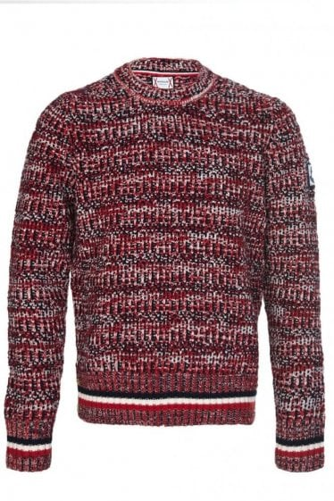 Moncler Gamme Bleu Winter Knitted Jumper Red
