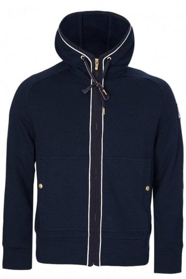 Moncler Gamme Bleu Zip Through Hooded Top Navy