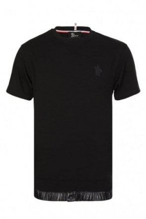 Moncler Grenoble Chest Logo T-Shirt Black