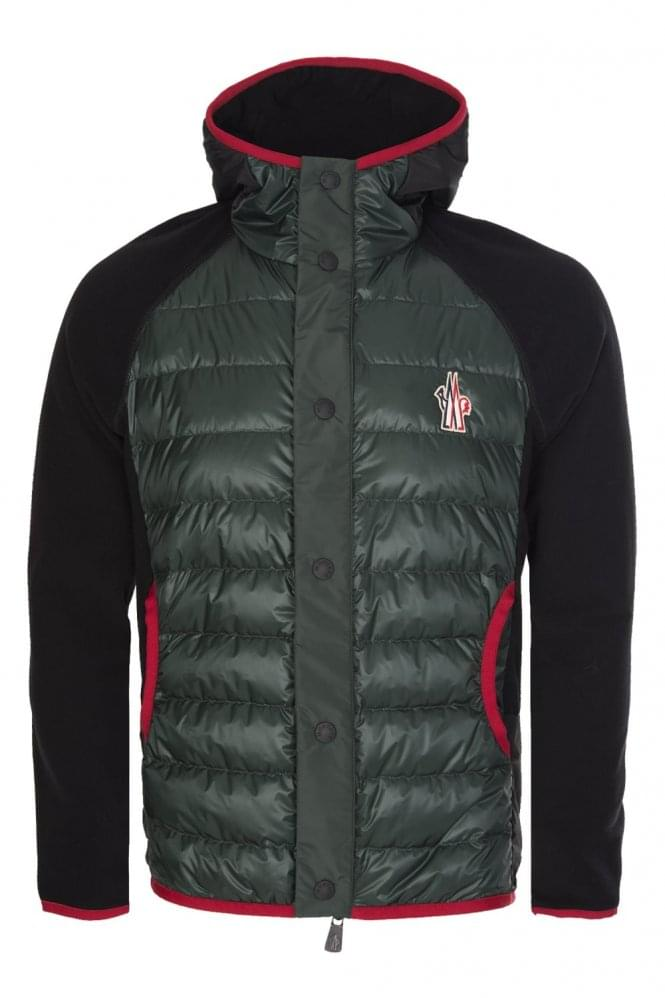 MONCLER Grenoble Contrast Trim Quilted Front Zip Hooded Jacket