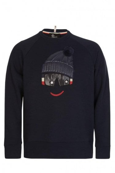Moncler Grenoble Padded Chest Motif Sweatshirt Navy
