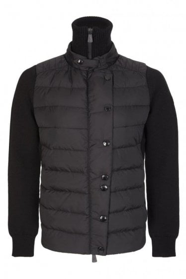 Moncler Grenoble Women's Knitted Puffer Cardigan Black