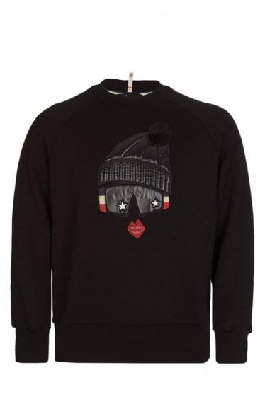 Moncler Grenoble Women's Padded Chest Motif Sweatshirt Black