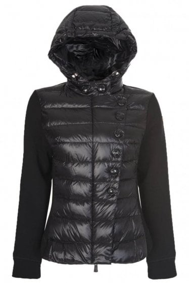 Moncler Grenoble Women's Quilted Front Jacket Black