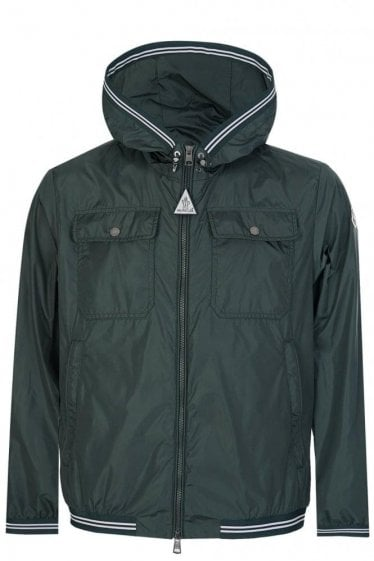 Moncler Jean-Claude Nylon Jacket Green