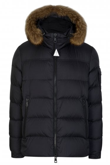 Moncler Marque Quilted Fur Trim Hooded Jacket