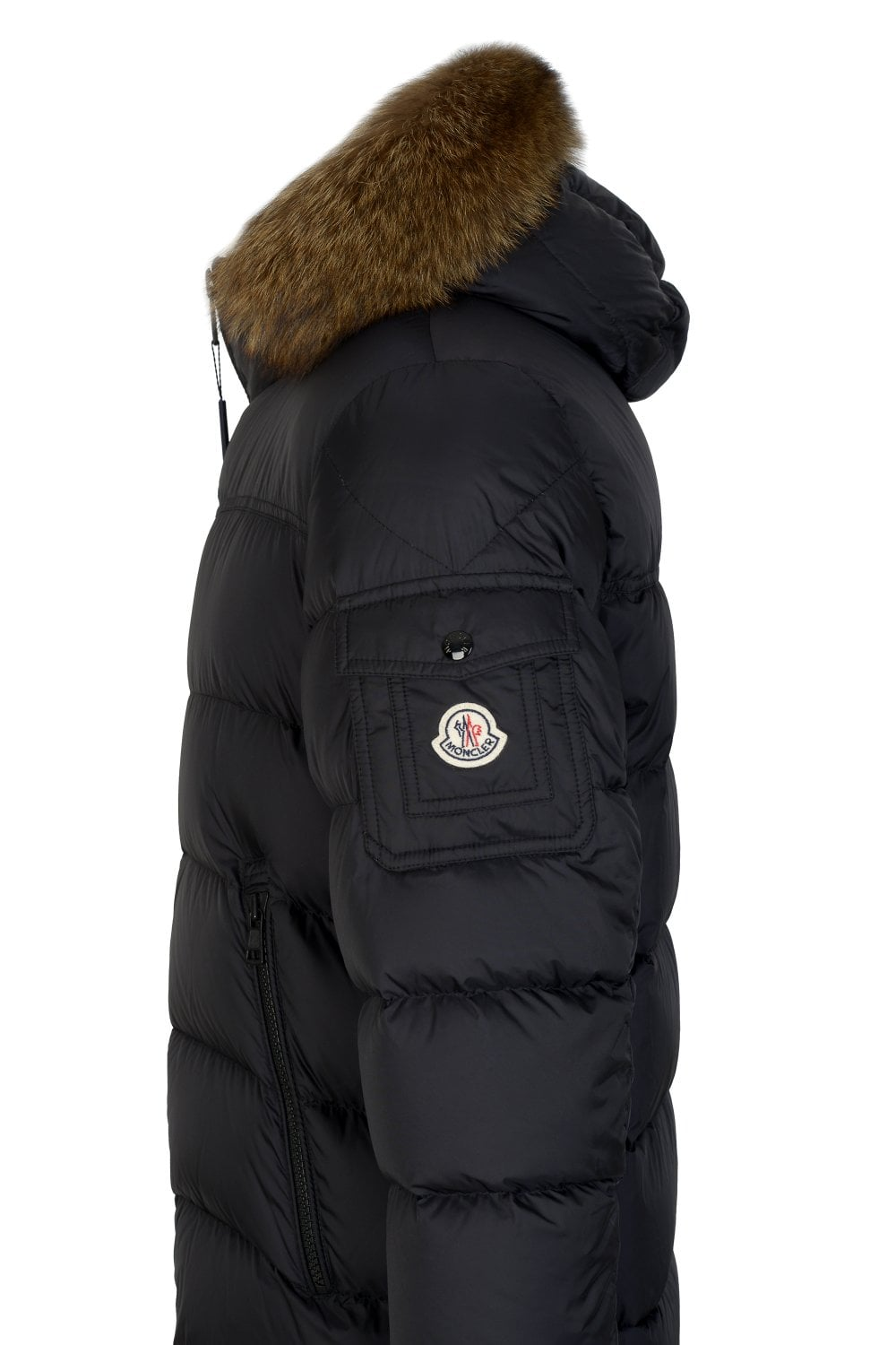 3e0c7094a031 MONCLER Moncler Marque Quilted Fur Trim Hooded Jacket - Clothing ...