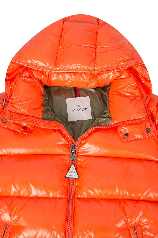 orange moncler coat