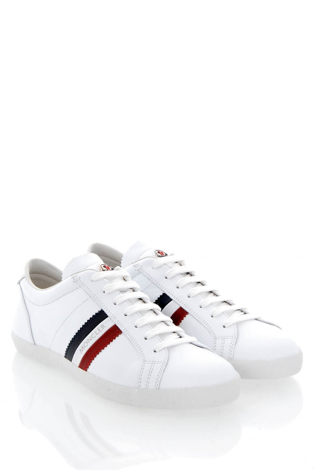 8869f434e MONCLER Moncler Monaco Leather Trainers - Clothing from Circle ...