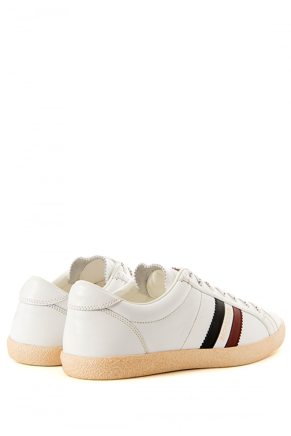 MONCLER Moncler Monaco White Leather Trainers - MONCLER from Circle Fashion UK