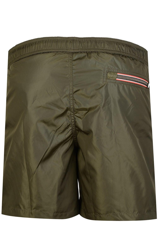 khaki green moncler swim shorts