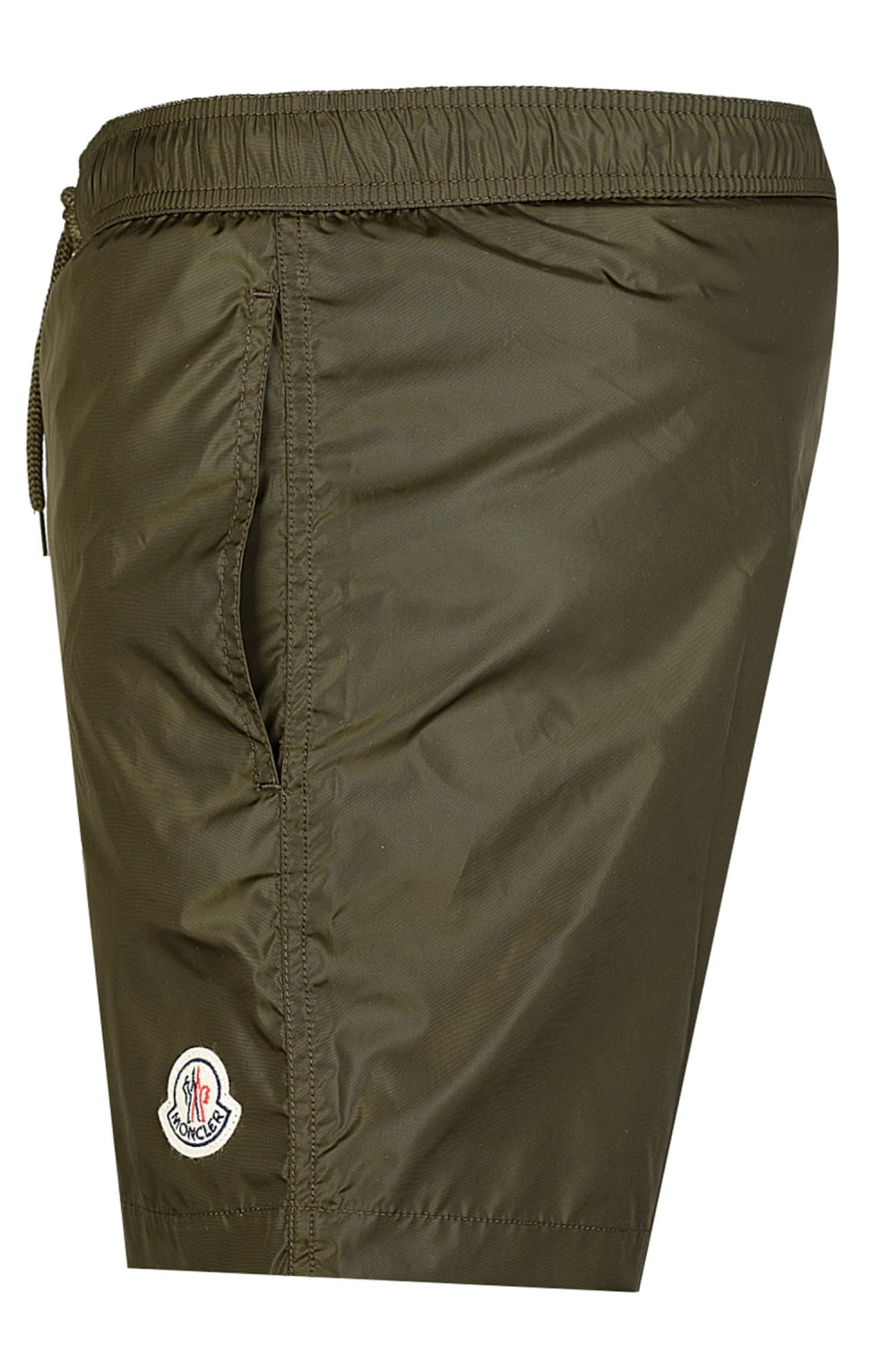 Moncler Nylon Swim Shorts Khaki