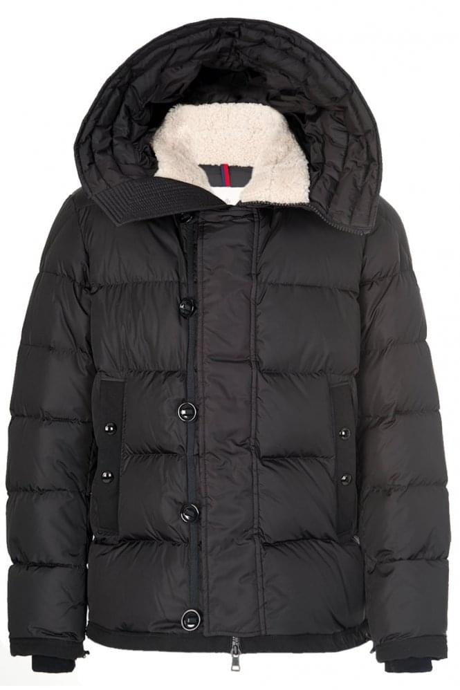 MONCLER Pyrenees Shearling Coat Black