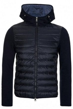 Moncler Quilted Core Zip Through Navy