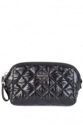 Moncler Quilted Cosmetic Bag Black
