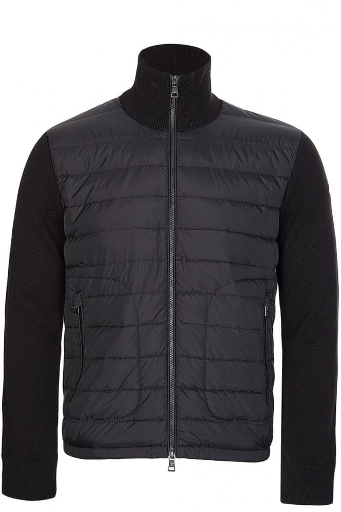MONCLER Quilted Front Jacket Black