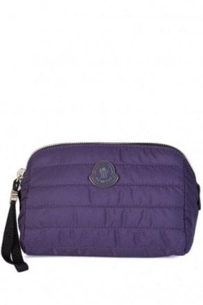 Moncler Quilted Nylon Beauty Case Purple