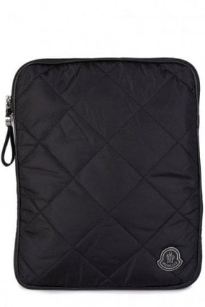 Moncler Quilted Tablet Case Black