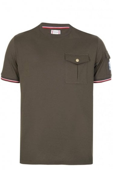 Moncler Sleeve + Chest Pocket T-Shirt Khaki