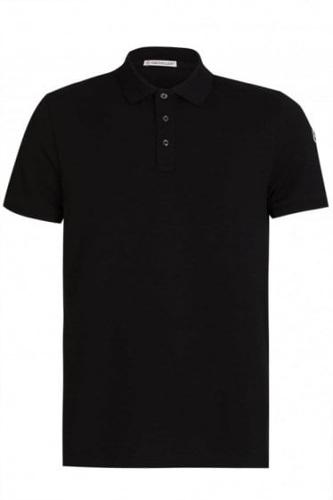 Moncler Sleeve Logo Polo Black