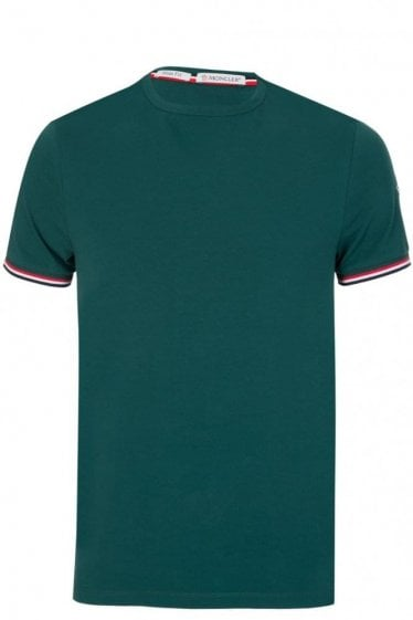Moncler Sleeve Logo Slim Fit T-Shirt Green