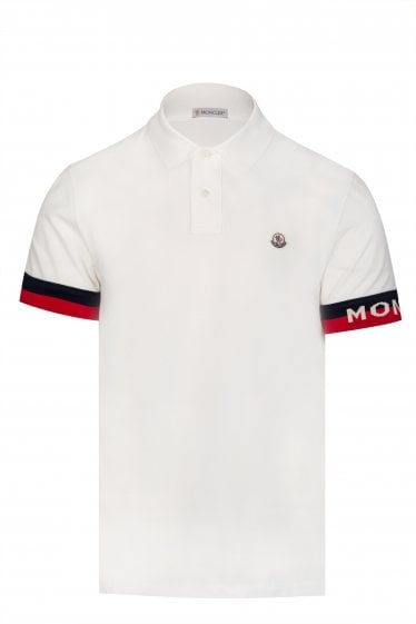 f7e97e1af69e7 Moncler Sleeve Trim Polo Shirt