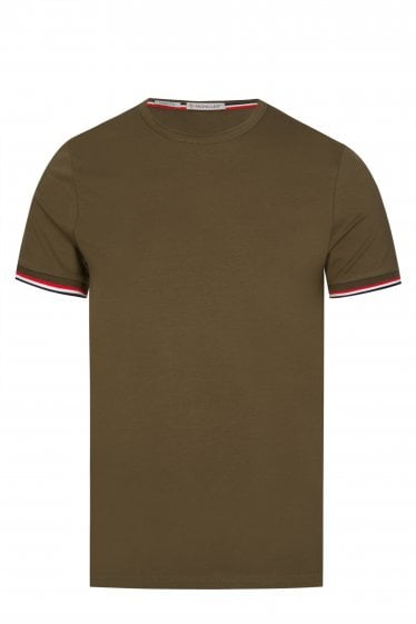 6174fffb6868f Moncler Striped Trim T-shirt