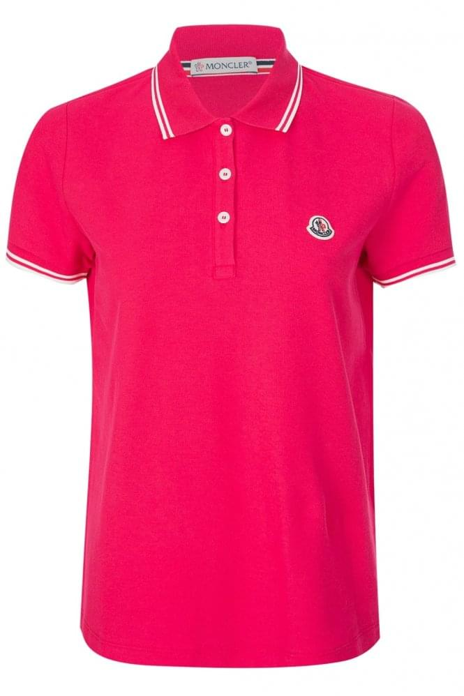 MONCLER Women's Classic Polo Pink