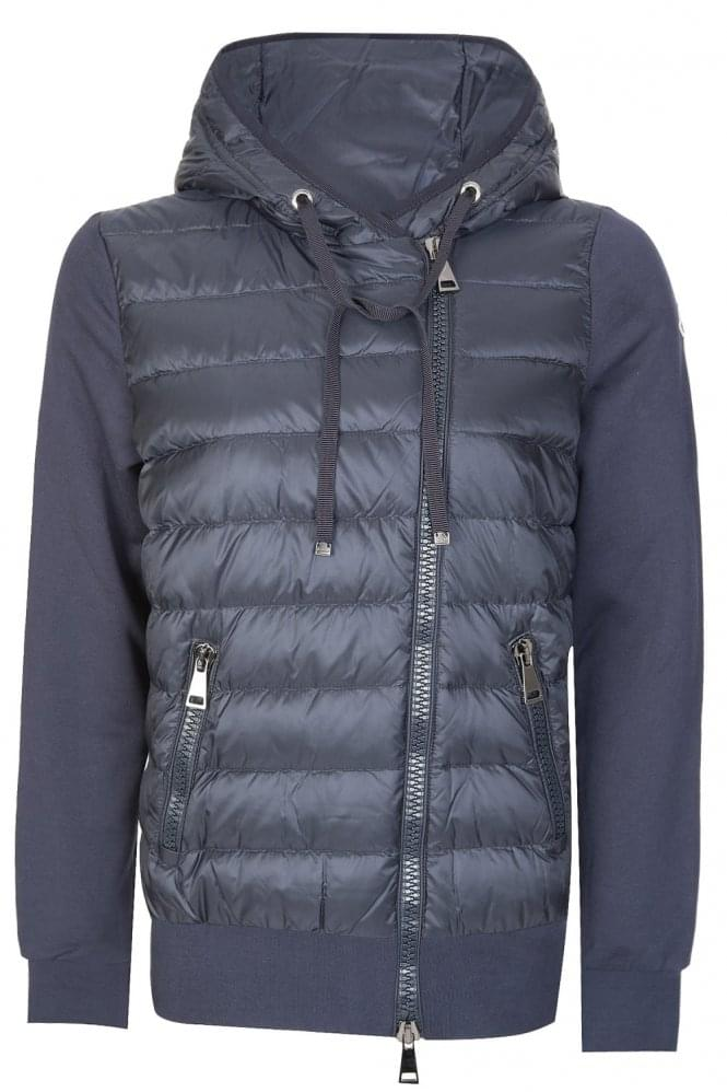 MONCLER Womens Contrast Cardigan Navy