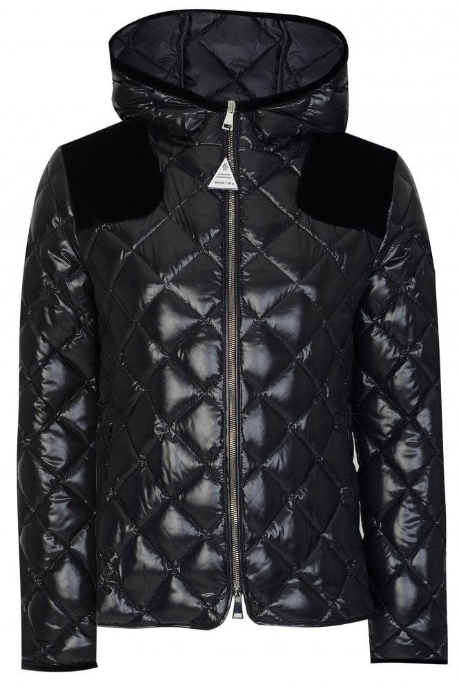 Moncler Womens Harle Puffer Jacket Black