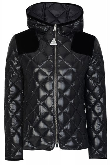 Moncler Womens Harle Puffer Jacket Black