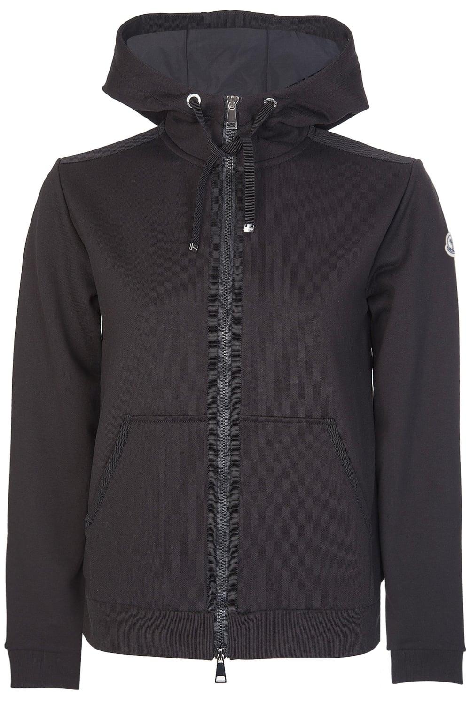 e24f57259344 Moncler Womens Jersey Zip Up Sweatshirt Black