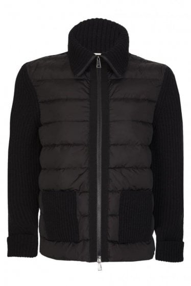 Moncler Womens Knitted Puffer Cardigan