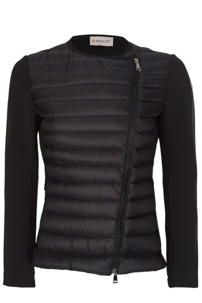 Moncler Women's Nylon Front Jacket Black