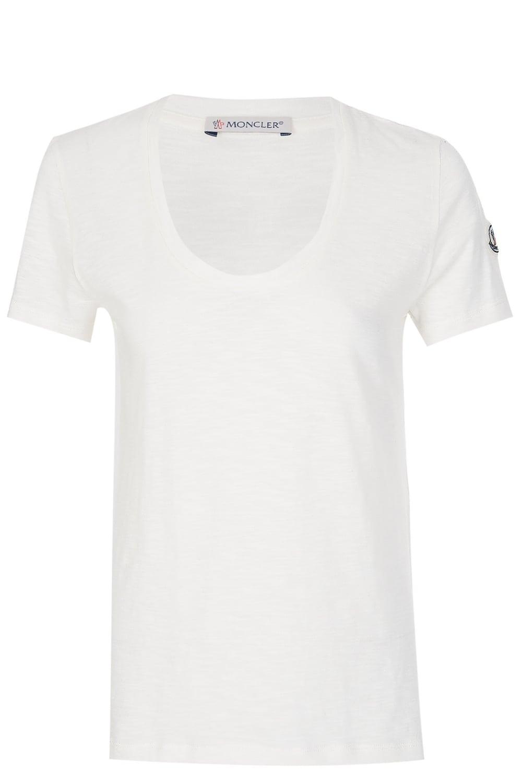 Moncler Women s Scoop Neck T-Shirt White 7690969707