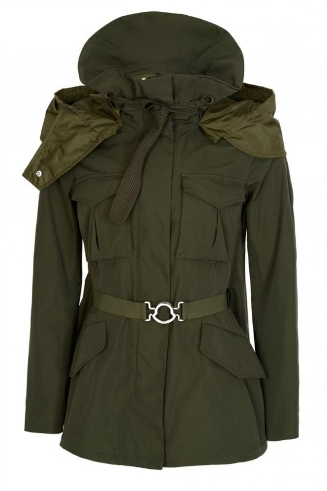 moncler khaki jacket women's
