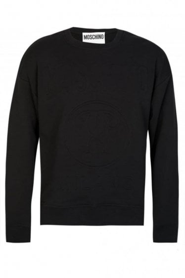 Moschino All Black Funnel Neck Sweatshirt