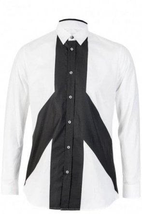 Moschino Poplin White Long Sleeve Shirt