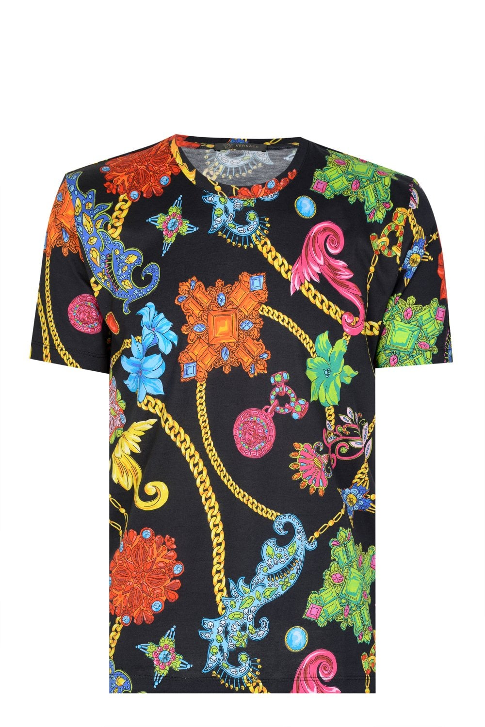 90854aff VERSACE Multi-Colour Floral Print T-shirt - Clothing from Circle Fashion UK