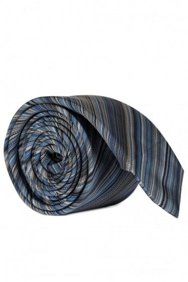Paul Smith Multi Stripe Tie Blue