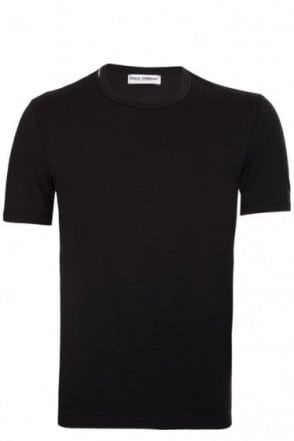 Dolce & Gabbana Neck Logo Cotton T-Shirt Black
