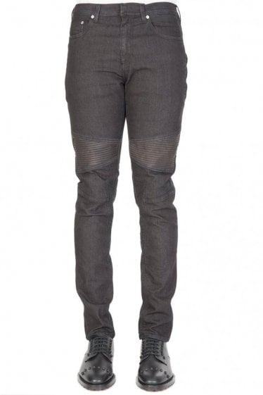 Neil Barrett Biker Ribbed Jeans Black