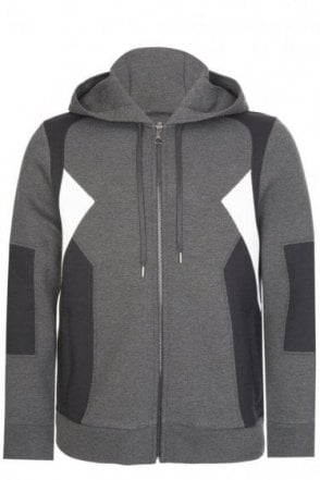 Neil Barrett Multi Panels Hooded Jacket Grey