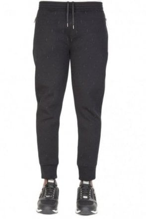 Neil Barrett Neoprene Lightening Bolt Joggers