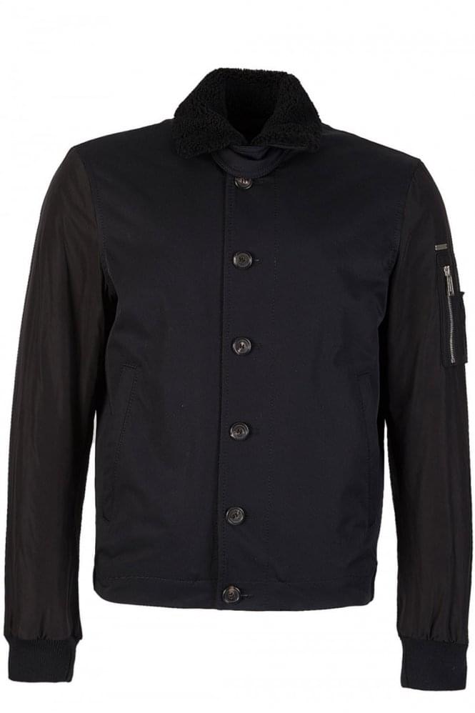 DSQUARED Light Black Cotton Nylon Jacket