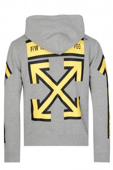 Off-White Arrows Hooded Top Grey