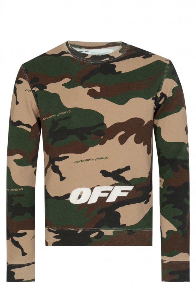 OFF WHITE Off-White Camouflage Cotton Sweatshirt