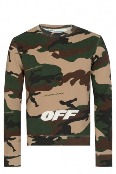 Off-White Camouflage Cotton Sweatshirt