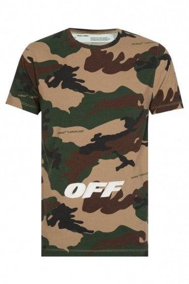 Off-White Camouflage Cotton T-shirt